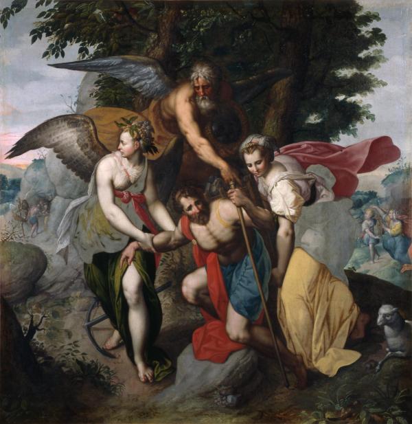 """""""Allégorie de la Vie"""" par Jacob De Backer (vers 1540-vers 1591)"""